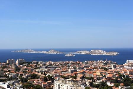 Marseille city view from the notre dame de la garde
