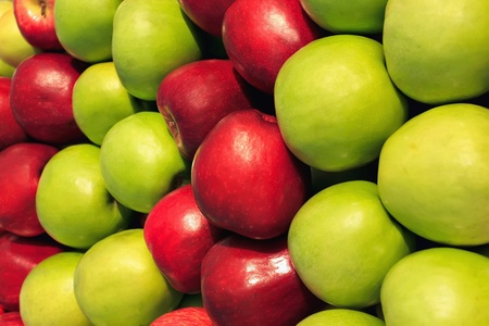 red apples: Green and red apples