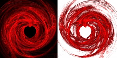 Two hearts fractals  Abstract fractal pattern  Computer generated graphics  Stock Photo - 13776341
