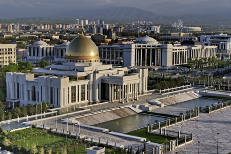 General Views to the president palace  Ashkhabad  Turkmenistan