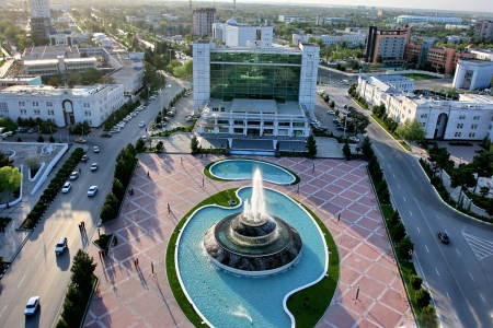 General Views to the main square  Ashkhabad  Turkmenistan