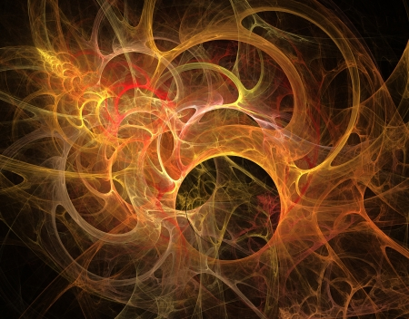 Abstract fractal pattern  Computer generated graphics  Gold palette