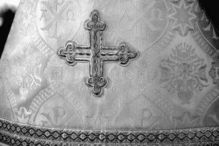 The cross on the clothes of an Orthodox priest Stock Photo - 14705362