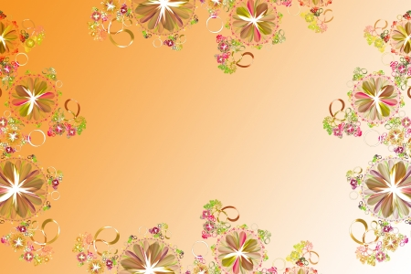 Flower background  Yellow palete