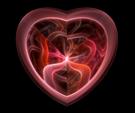 Red heart fractal Stock Photo - 14990664