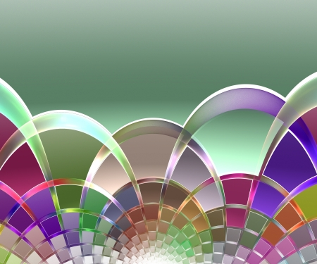Background of colorful crossing semicircles photo