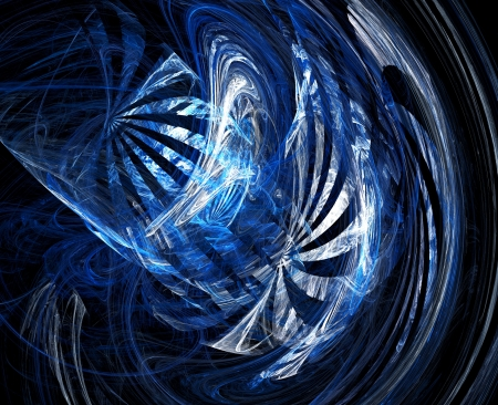 Abstract fractal blue pattern. Computer generated graphics. photo