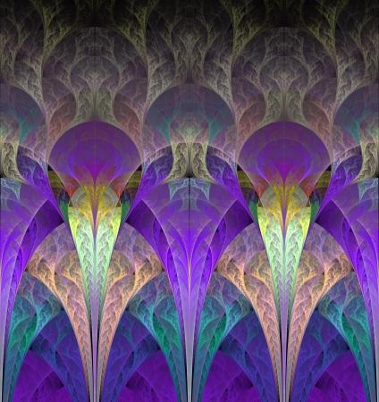 Fantastische Blumen in lila Computer generierte Grafiken