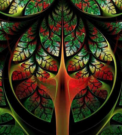 Fabulous Tree. Computer generated graphics. Stock Photo