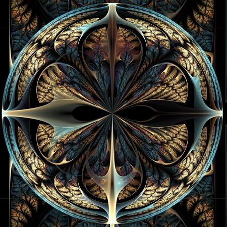 Schöne Muster der Blätter. Computer generierte Grafiken. Lizenzfreie Bilder