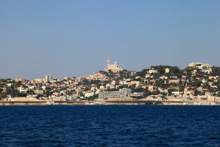 View of the Marseille from the sea