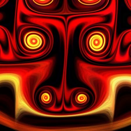 Fractal geheimnisvollen alten Gottheit Standard-Bild