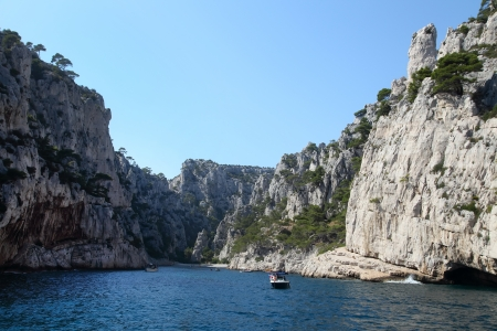 inlet bay: The famous Calanques of Cassis, near Marseille, in Bouches du Rhone  France