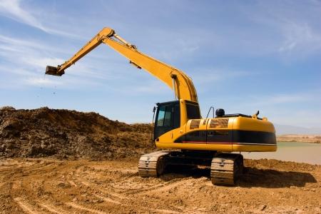 Orange Bagger auf der Baustelle