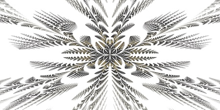 generate: Fabulous symmetric pattern of the leaves  Computer generated graphics