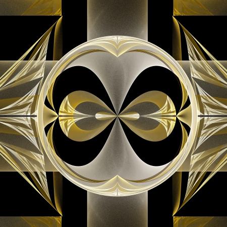 フラクタル幾何学模様。生成したコンピュータ グラフィックス。 写真素材