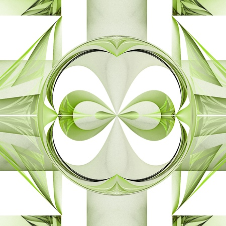 elipse: Fractal geometric pattern. Computer generated graphics. Stock Photo