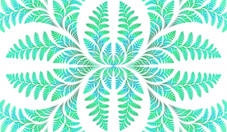 Fabulous symmetric pattern of the leaves in green  Computer generated graphics  photo