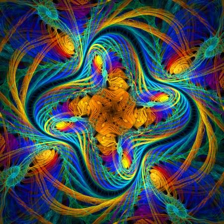 Schöne fraktale Muster im Stil der Strickware. Computer generierte Grafiken. Lizenzfreie Bilder