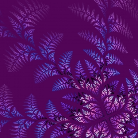 vinous: Fabulous asymmetrical pattern of the leaves on vinous background. Computer generated graphics.