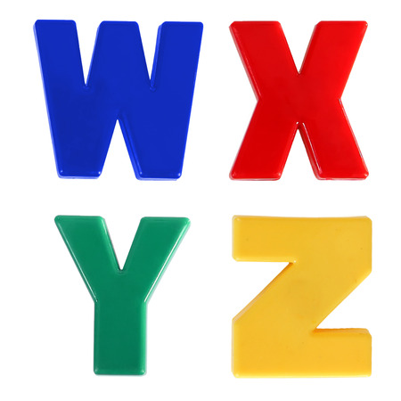 yong: Four letters written in multicolored plastic kids letters