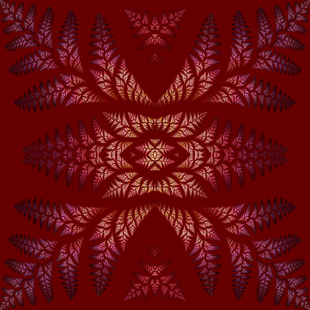 claret: Fabulous symmetric pattern of the leaves in purple  Collection - tree foliage  On claret background  Stock Photo