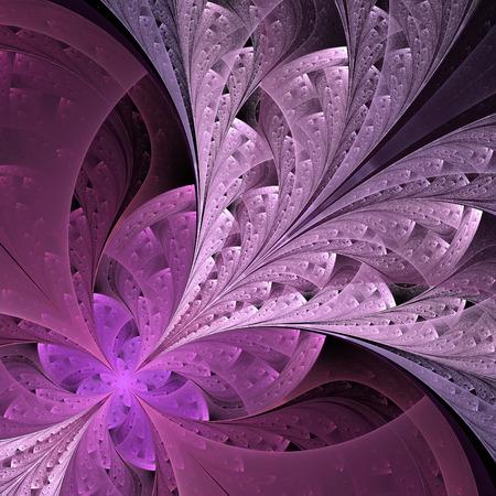 vinous: Beautiful fractal flower in vinous and purple. Computer generated graphics.