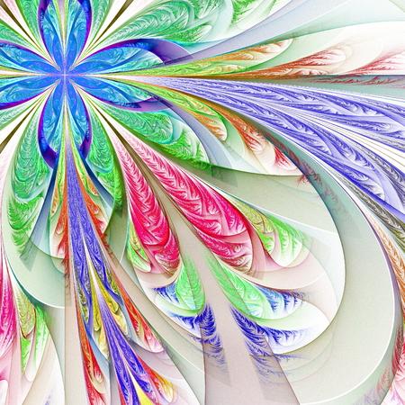 tracery: Diagonal symmetric multicolor fractal tracery Stock Photo