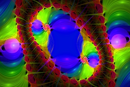 luminescent: Multicolor  luminescent fractal pattern. Computer generated graphics.
