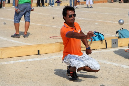 Marseille  France - August 20  2012   Sports   Recreation  Petanque competitions  France  Marseille  Mediterranean coast  August 20  2012 Editorial