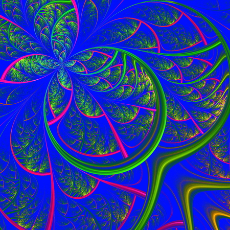 fabulous: Delicate fabulous pattern of the leaves. Computer generated graphics.