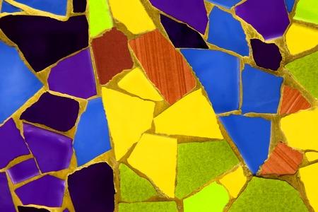 セラミック モザイク パターンの写真は、スペインでは、夏の時間 2014