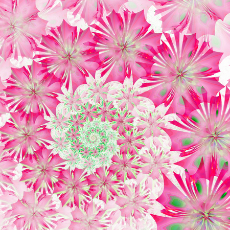 generate: Spiral flower background. Pink palette. Computer generated graphics.