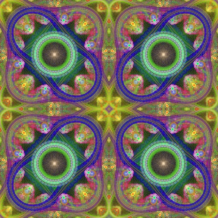 symmetrical: Multicolored symmetrical grid fractal pattern. Computer generated graphics.