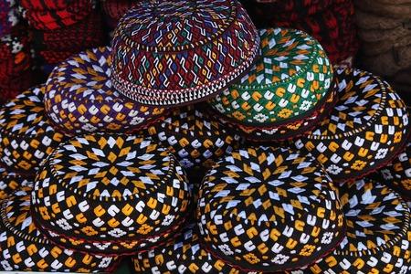 gestickt: Bestickte K�ppchen. Turkmenistan. Aschchabad