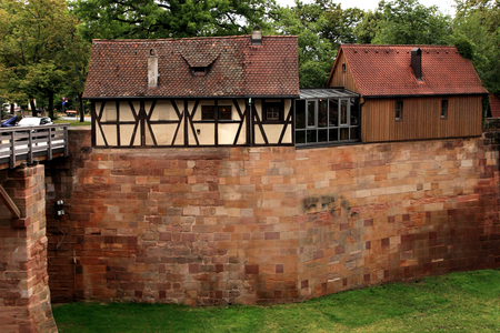moat wall: Nuremberg, Germany, view from the Castle walls