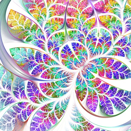 fabulous: Multicolored fabulous fractal pattern. Collection - tree foliage. Computer generated graphics.