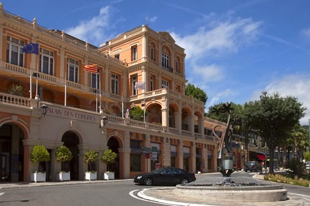 france perfume: GRASSE, FRANCE - JULY 5: Congress Palace in the city of Grasse on July 5, 2014. Grasse is famous for its perfume industry. The city was founded in the XI century.