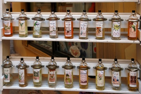 france perfume: GRASSE, FRANCE - JULY 5: Grasse perfume counter, GRASSE, FRANCE - JULY 5 Editorial