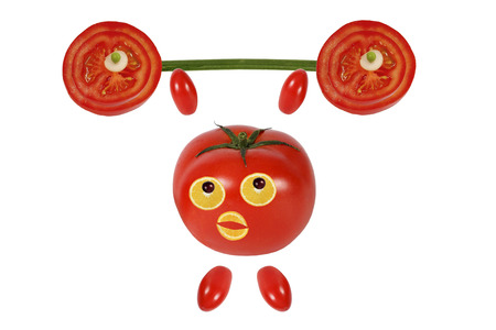 raises: Little funny tomato raises the bar