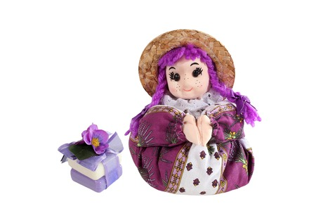 sachets: Herbs soap  and scented sachets Lavender  in the form of dolls from the Provence.