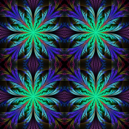 frosty: Beautiful pattern from fractal flowers. Blue palette. Collection - frosty pattern.