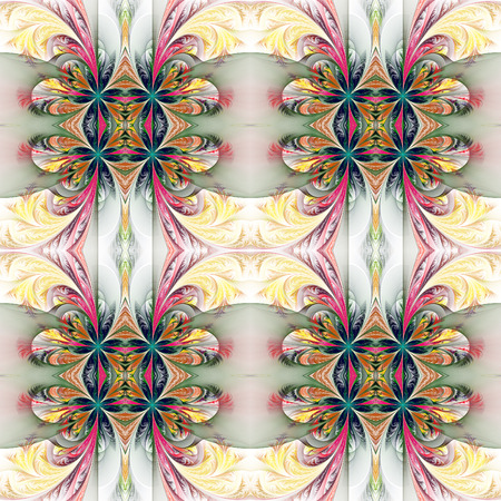 tracery: Beautiful symmetrical background from fractal tracery. On white.
