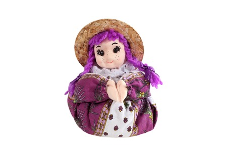 sachets: Scented sachets Lavender in the form of dolls Stock Photo