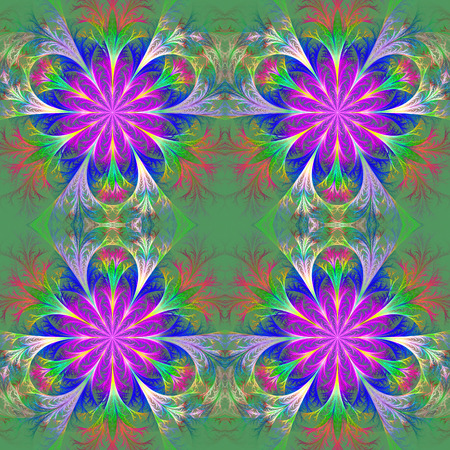 feelers: Beautiful pattern in fractal design. Collection - frosty pattern. Purple and Blue palette. Stock Photo