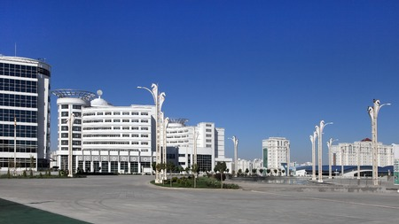 olympiad: Ashgabat, Turkmenistan - October 23, 2014: Olympic Village (Ashgabat, 2017). October 23, 2014.  Ashgabat first in the Central Asian region has received the right to host the Asian Indoor Games