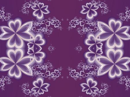 carpet and flooring: Flower pattern in fractal design. Purple palette. Artwork for creative design, art and entertainment.