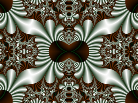 generate: Fabulous symmetrical pattern for background. Artwork for creative design, art and entertainment. Computer generated graphics. Stock Photo