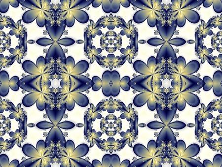 carpet flooring: Flower pattern in fractal design. Artwork for creative design, art and entertainment. Stock Photo