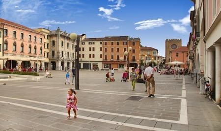 Venedig, Mestre-29. Juni 2014: Mestre am 29. Juni 2014. Piazza Erminio Ferretto in Italien. Mestre ist die am dichtesten besiedelte Stadtgebiet auf dem Festland von Venedig, ein Teil des Gebiets der Stadt Venedig, in Venetien, Italien.